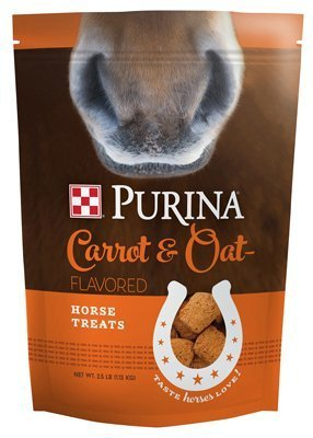 Purina Carrot and Oat Flavored Horse Treats, 2.5 Pound - Treats Oats Horse