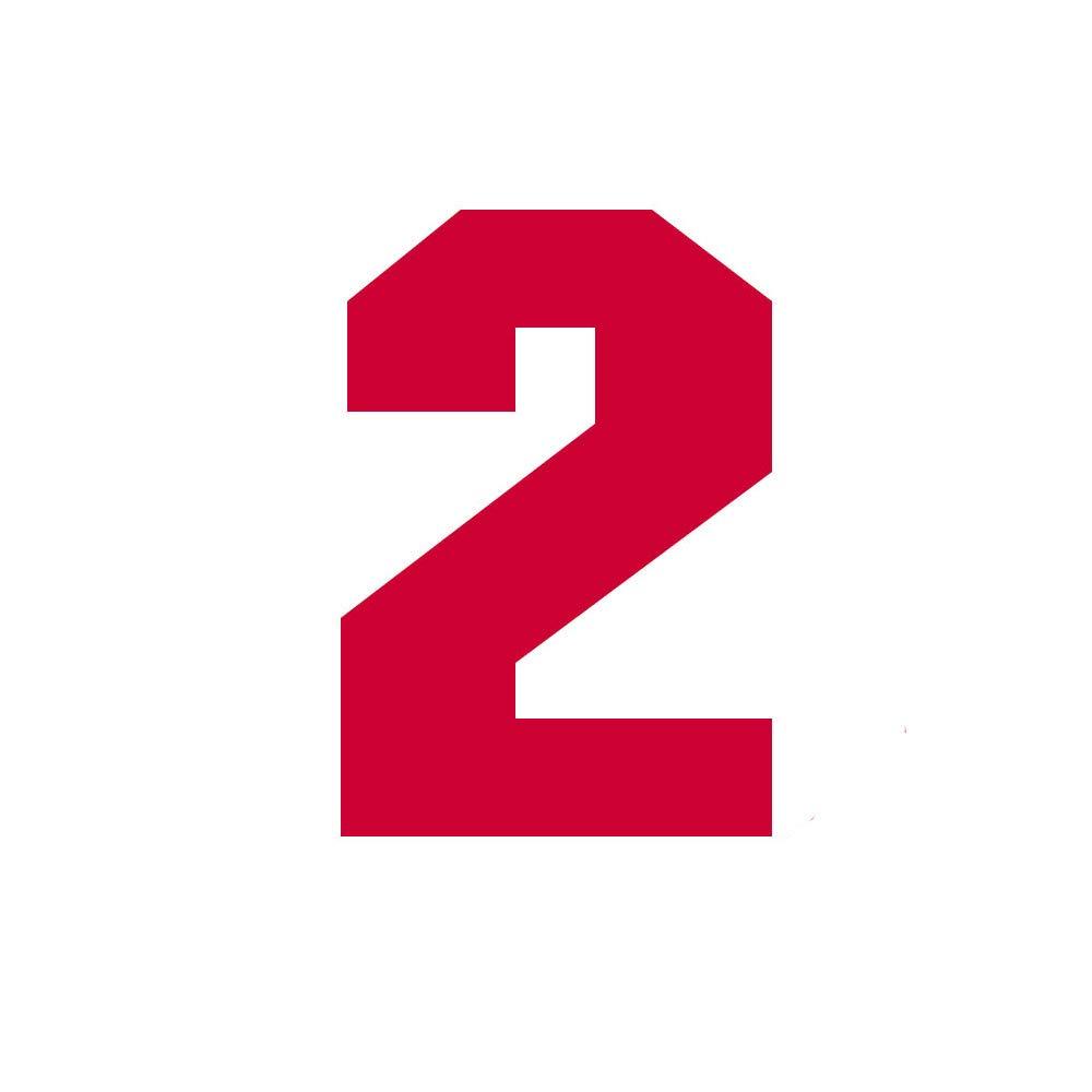 color rojo Camiseta deportiva de f/útbol n/úmero /único 0~9 plancha sobre transferencia de calor