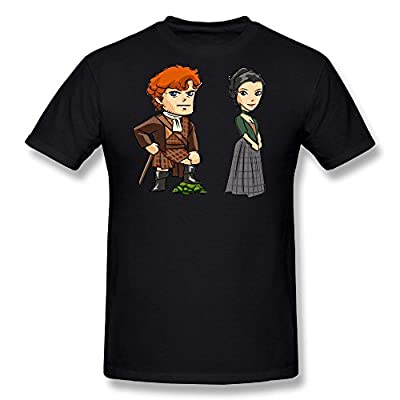 FENGTING Men's Outlander Jamie Fraser Poster T-shirt