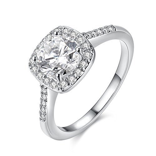 Eternity Love Women's 18K Rose/White/KC Gold Plated CZ Crystal Engagement Rings Best...
