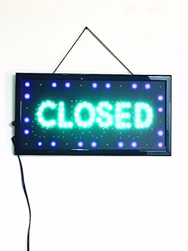 UPSUN Bright LED Neon Light Animated Motion OPEN/CLOSED Sign For Store Shop Restaurant (Closed Neon Sign)
