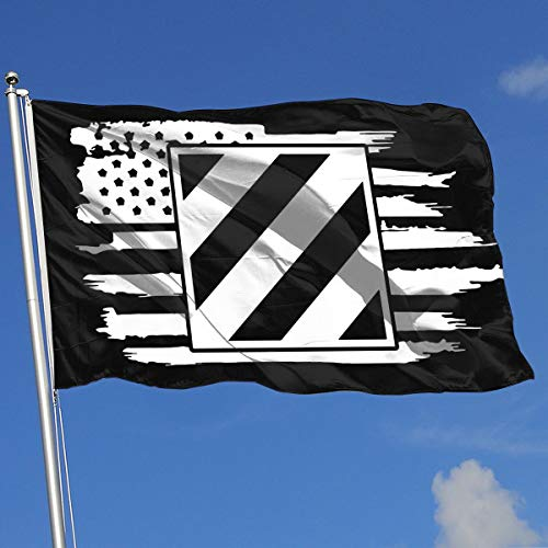 (QphonesFlag American Flag US Army 3rd Infantry Division Flag 3x5-Flags 90x150CM-Banner 3'x5' FT)