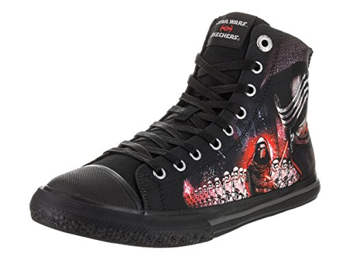 Skechers Men's Star Wars Legacy Vulc Galactic Ruler High Top,Black/Red,US 10 -