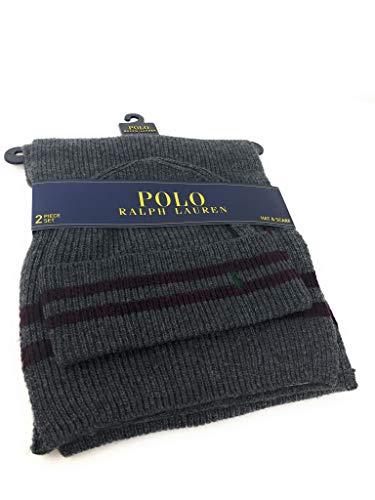 Polo Ralph Lauren Men's Scarf & Hat Set, Grey ()