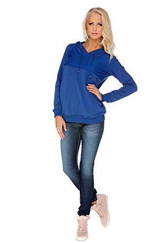 My Tummy Maternité sweat-shirt maternite Angie bleu