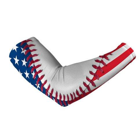 USA Flag Baseball Lace Arm Sleeve L//XL
