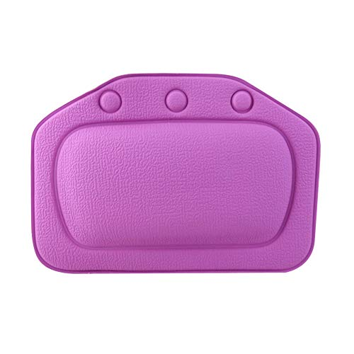 (Ameglia Bathroom Bath Pillow Comfortable Neck Bathtub Cushion Headrest 4Color Option NJ (Color - Purple))