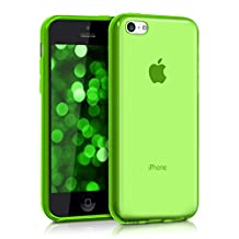 kwmobile Crystal Case Cover for Apple iPhone 5C made of TPU Silicone - transparent clear Protection Case in green