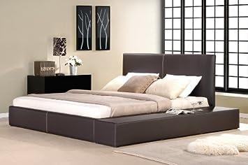 Lederbett Bettgestell Lounge Bett Braun 160x200 Cm Polsterbetten  Bettrahmen, Material A++ Qualität Traumhafte Lederoptik Inklusive