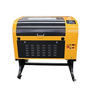 TEN-HIGH Upgraded Version CO2 400x600mm 60W 120V Laser Engraving Cutting Machine with USB Port
