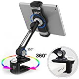 LARICARE Tablet Stand Phone Stand Phone Holder 360 Degree Swivel Aluminum Adjustable Sturdy clamp for Camera, iPad, iPhone, Samsung and Other Smart Phones LD204B(Black)