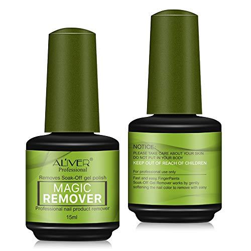 Magic Removal UV-Gel-Nagellackentferner, Soak-Off-Nagel-Unterlack, Acrylreiniger für Gellack, Nagelkunst-Soak-Off-Entferner, 15 ml, 2 Stück