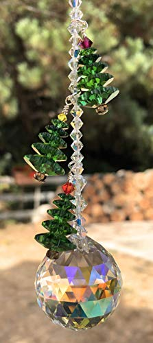 Christmas Trees, Swarovski Crystals, Christmas Decoration, Tree Ornament, Crystal Sun Catcher, Window Mobile, Car Accessories, Prism, 9082 from Judy Evans Collection
