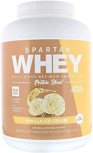 Sparta Nutrition Spartan Whey, Vanilla Ice Cream, 5lb