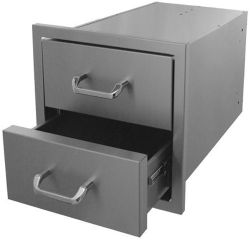 HBI 2DR-12X11 Hasty-Bake Stainless Steel 2-Drawer Unit, 12 by 11-Inch (Unit Drawer Steel)