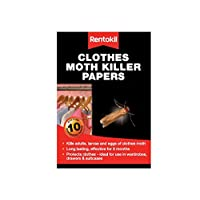 Rentokil Clothes Moth Killer Papers - Pack of 10