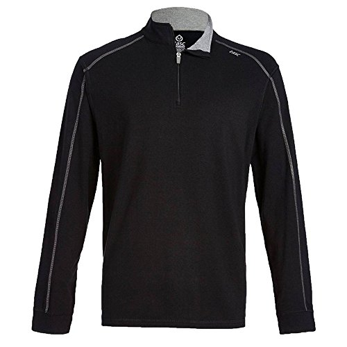 tasc Performance carrollton 1/4-zip shirt, black gun, large
