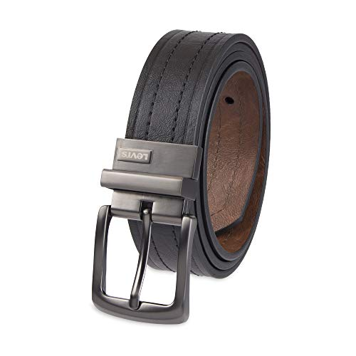 Levi's Men's 1 9/16 in. Reversible Belt-Black/Tan, ()