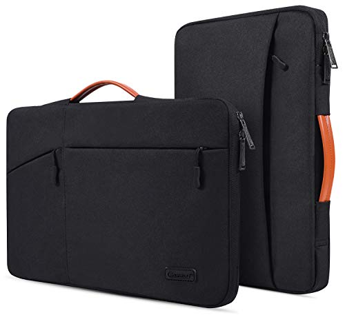 CaseBuy 11.6-12.9 Inch Waterpoof Laptop Briefcase Bag for DELL XPS 13 7390 9380, Surface Pro 7/6 2019, DELL Chromebook 11 3100, HP x360 Chromebook 11.6, 360° Protective Notebook Tablet Bag