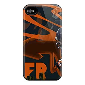 Scratch Resistant Hard Phone Cover For Iphone 4/4s (tiL19106BnXE) Customized Vivid Chicago Bears Skin