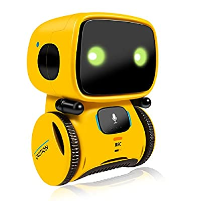 Robot Toy?Educational Stem Toys Robotics - Talking Interactive Voice Controlled Touch Sensor Smart Robotics with Dance, Sing, Speak Like You, Recorder, Touch Control, Voice Recording