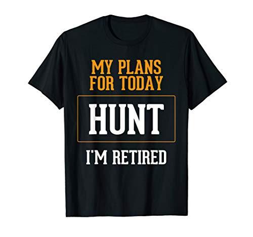 Hunters Plans. Funny Hunting Retirement Gag Gift Idea. -