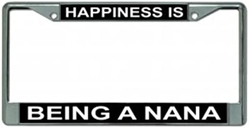 Butler Online Stores Happiness is Being A Nana License Plate Frame Bundle with Nana Decal Number 1 Nana