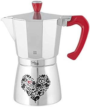 Habi kp2900 Cafetera Dolce Café para 9 Tazas, Aluminio, Rojo/Plata: Amazon.es: Hogar