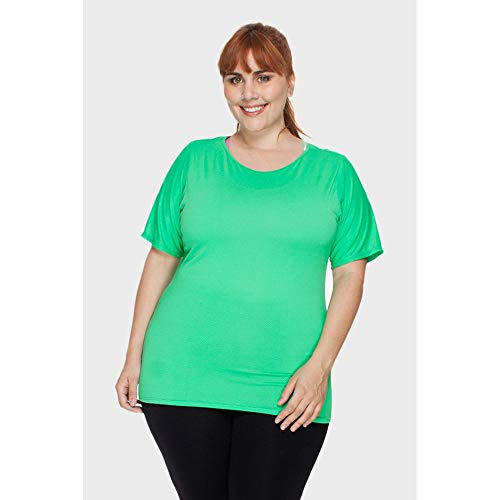 Blusa Fitness Plus Size Verde-50