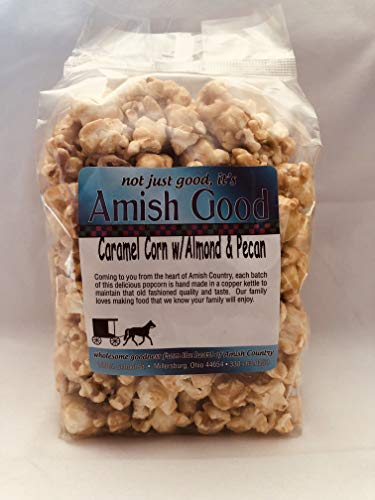 Amish Good Caramel Popcorn with Almond and Pecan