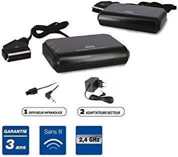 Transmisor y emisor inalámbrico de audio y vídeo para televisor (2,4 GHz)