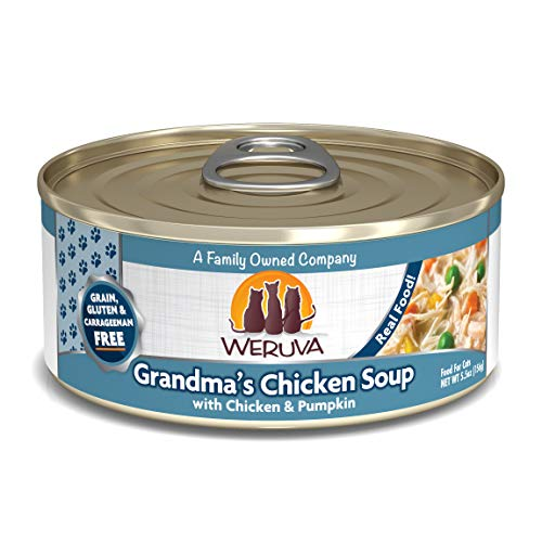 Weruva Classic Cat Food, Grandma?S Chicken Soup With Chicken Breast & Veggies, 5.5Oz Can (Pack Of 24)