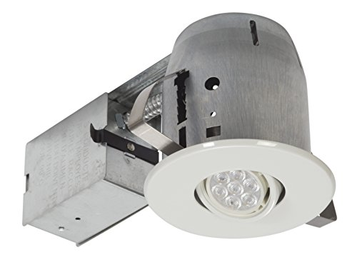 Globe Electric 90732 LED IC Rated Swivel Spotlight Recessed