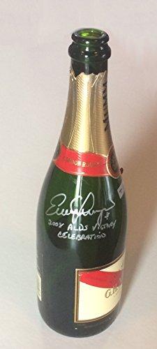 Evan Longoria Rays signed Champagne bottle ins 08 ALDS celebration MLB holo COA (08 Champagne)