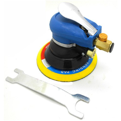 "Simply Silver - 6"" Air Random Orbital Air Palm Sander Body Sanding Automotive Tool"