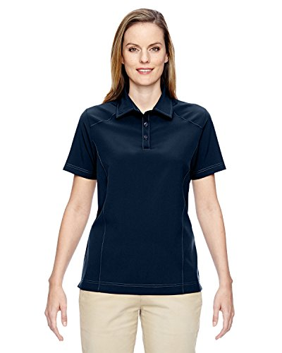 Ladies North End - Ash City - North End Womens Excursion Crosscheck Woven Polo 75120 -NAVY 007 3XL