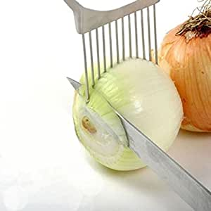 Kitchen Tools & Gadgets Onion Tomato Vegetable Slicer Cutting Aid Guide Holder Slicing Cutter Gadget ZWS
