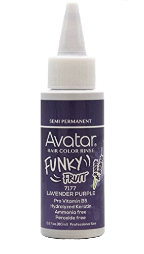 Avatar Funky Fruit Semi-permanent Hair Color Rinse 2.8 oz Lavender Purple