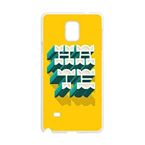 Samsung Galaxy Note 4 Case, 3D Hate Text Effect Case for Galaxy Note 4 White leemarson lmsf230684