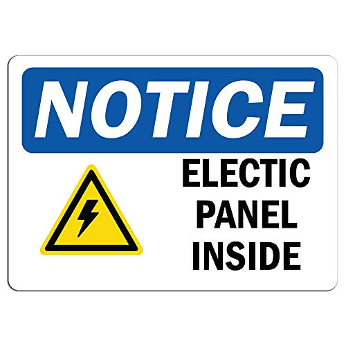 Notice - Electrical Panel Inside Sign with Symbol   Label Decal Sticker Retail Store Sign Sticks to Any Surface 8