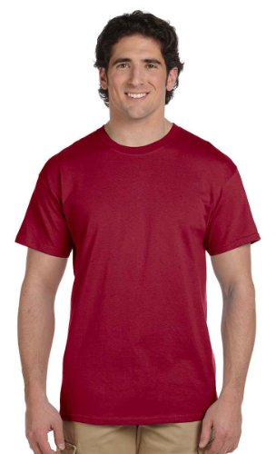 Fruit of the Loom Men's Short Sleeve Crew Tee, Large  - Cardinal Cardinals Cotton