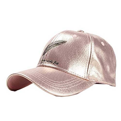 6563abf9 SHOPUS | Summer Fashion Shiny PU Leather Women's Caps Feathers ...