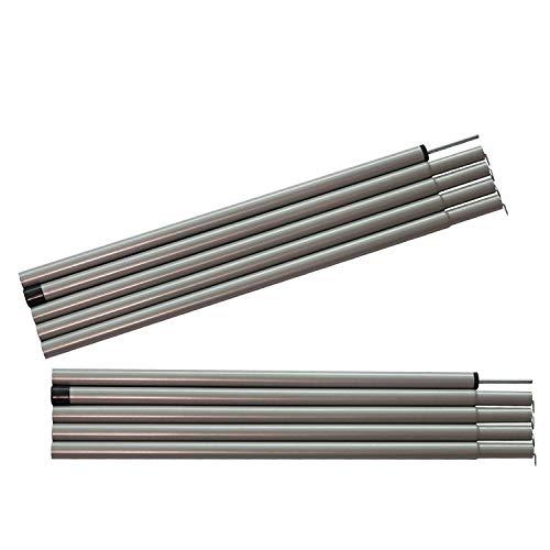 Sutekus Steel Rod Tent Pole Replacement Accessorie 2pc/Set Adjustable Bars(Gray)