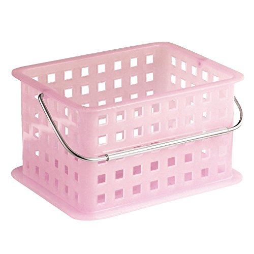 InterDesign Storage Organizer Basket, for Bathroom, Health and Beauty Products - Small, Blush