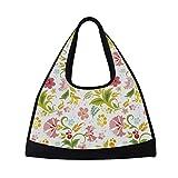 Best  - Canvas Sports Gym Bag Floral Duffel Bag Travel Review