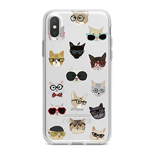 Lex Altern TPU Case for iPhone Apple Xs Max Xr 10 X 8+ 7 6s 6 SE 5s 5 Cover Slim Fit Hipster Animals Lovely Teen Kitten Flexible Print Lightweight ()