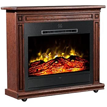 Outstanding Amazon Com Heat Surge Roll N Glow Amish Electric Fireplace Home Interior And Landscaping Ologienasavecom