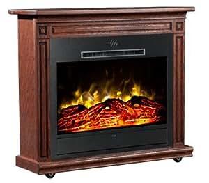 Heat Surge Roll N Glow Amish Electric Fireplace In Dark Oak Ev 4 Home Kitchen