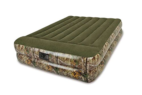 Intex Real Tree Inflatable Queen Pillow Rest Air Bed Camping Mattress Perfect Choice for Rugged Outdoor Camper, Weight Limit Up To 600 Lbs. - Camo