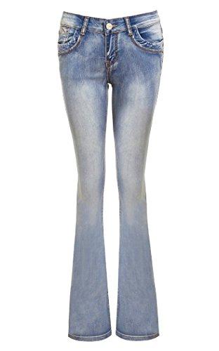 SS7 Women's Kiss Bootcut Jeans, Stonewash Blue, Sizes 6 to 16 Stonewash Blue